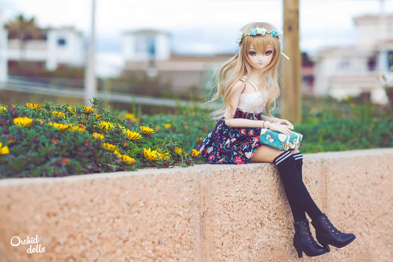 Dollfie Dream Miki Hoshii Coco exteriores primavera