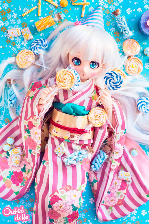 Custom Mini Dollfie Dream DDH-01 Nebula in Candyland