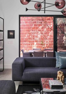 Annex Coach House in Toronto: New furniture was selected for all spaces to complement the design.