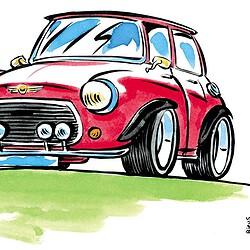 Caricature de voiture