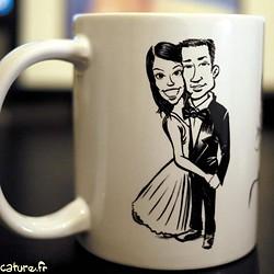 Mug caricature de mariés