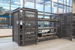 Custom Sheet Rack with Crank-Out Reduction Drive and Hinged Side-Frames