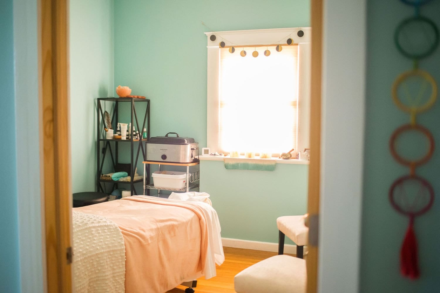 Minneapolis brand photography for massage room