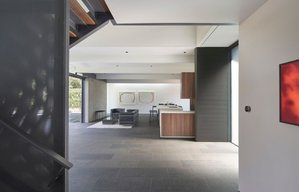 MidCentury Modern / Contemporary View of Stair Detail: Edgewood House in Palo Alto, California in the United States