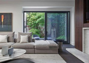 Annex Coach House in Toronto: Living Room