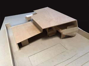 Wood Model from Tyler and Tyler Architecture: Edgewood House in Palo Alto, California in the United States