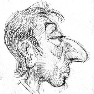 Caricature de Gainsbourg