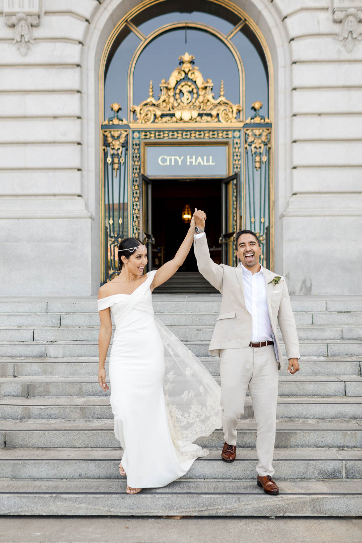 san francisco city hall wedding bhldn blake gown