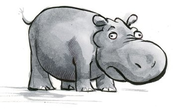 caricature d'animaux sauvage : l'hippopotame