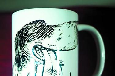 Mug caricature de chien
