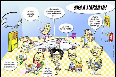 Caricature d'entreprise pour un départ en retraite