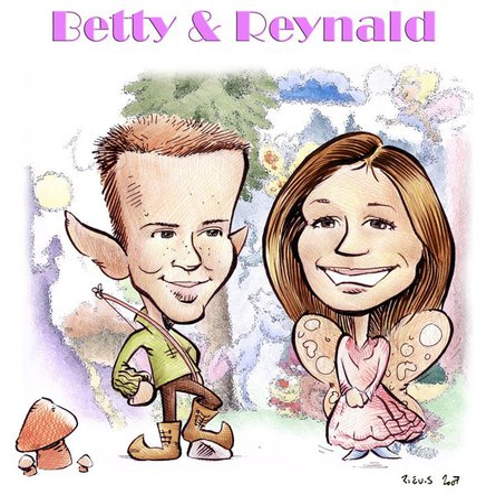 Faire Part de mariage façon Fée et Elfe