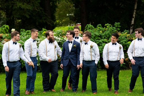 Minneapolis groomsmen at Camrose Hill