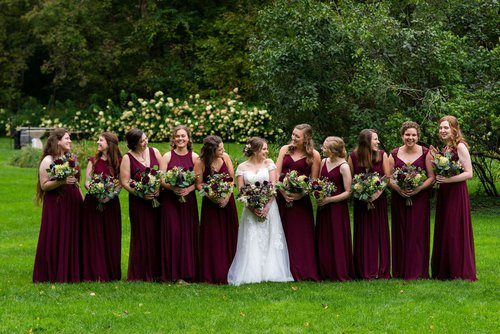 Bridesmaids at Camrose Hill