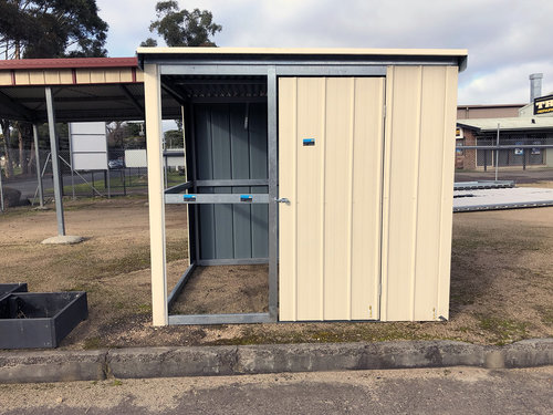 RHS 40mm x 20mm Tube Garden Shed with 2 panel side and one panel front open