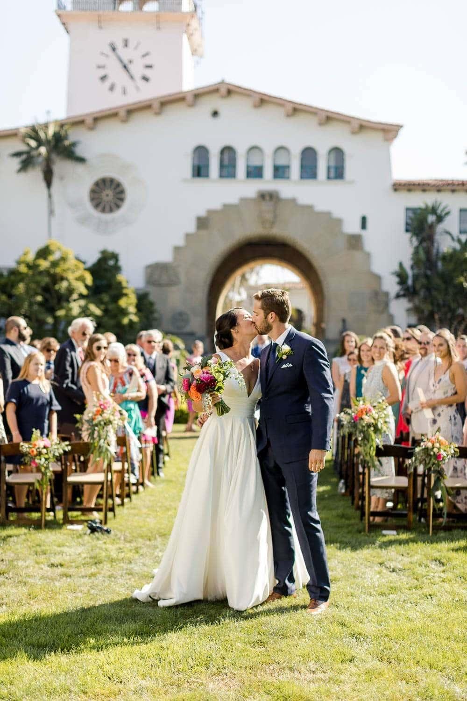 santa barbara courthouse sunken garden wedding photos