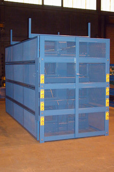 Custom Caged SpaceSaver Cantilever Rack