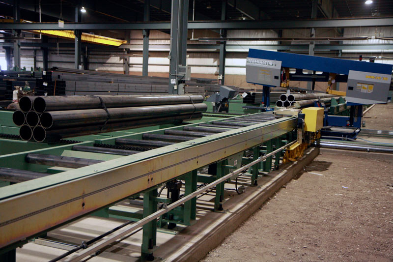 Powered Measuring System on Outfeed Roller Conveyor System