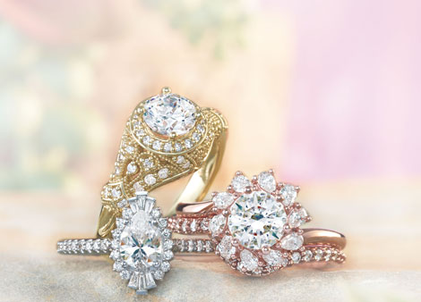 Custom designed engagement rings from Simply Majestic