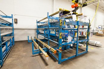 SpaceSaver Cantilever Rack with Extended Drawer and Receptacle Dividers