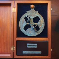 Caixas madeira para astrolábios