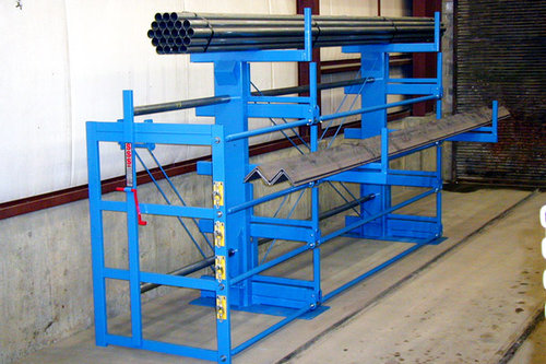 One-Sided 4 Tall 2 Grid Cantilever SpaceSaver Rack