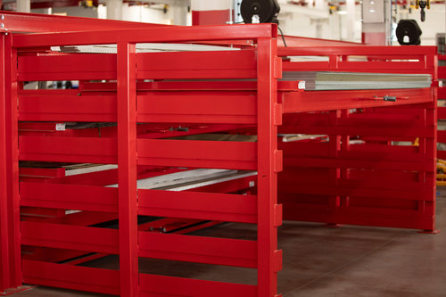 Double-Sided Crank-Out Sheet Rack