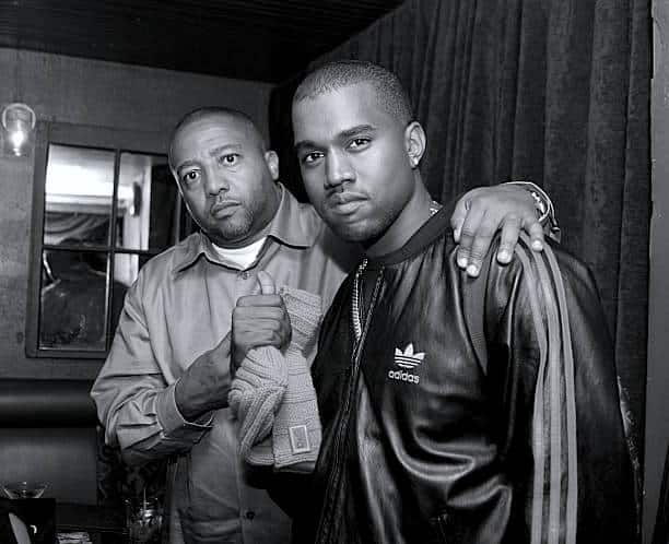 Kanye West and Kevin Liles at NYC Hiphop venue at SOB's