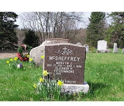 MCSHEFFREY MERVYN J. DEC. 17, 1921 - MAR. 1, 1996 ELEANOR H. FITZSIMMONS NOV. 1, 1914