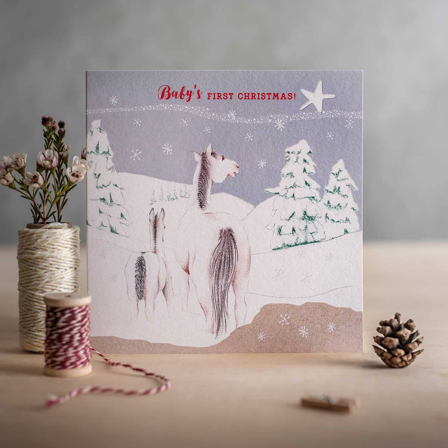 Single greetings card photography for Deckled Edge cards
