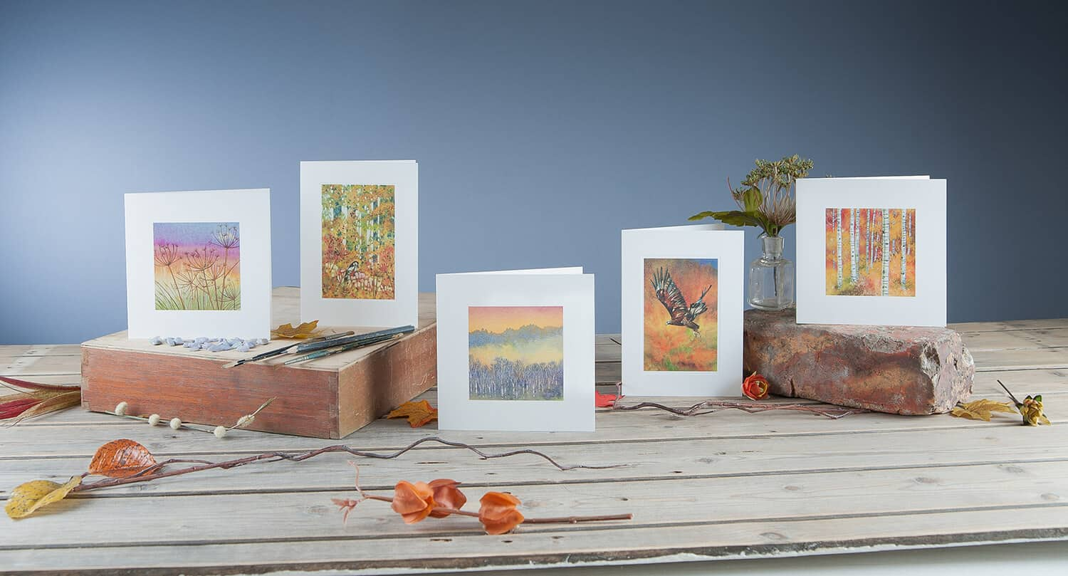 Styled greetings card group photography for New Leaf Cards