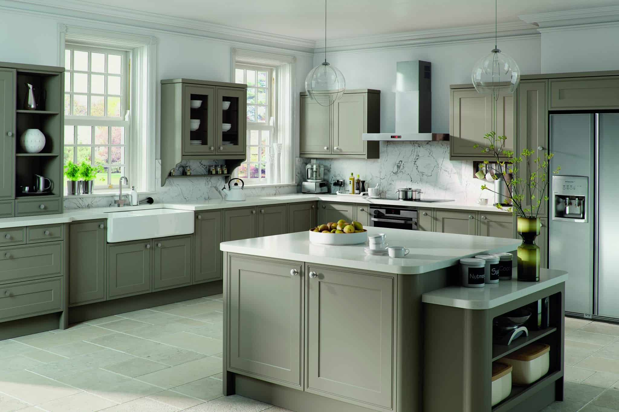 Tullymore kitchen in Stone grey