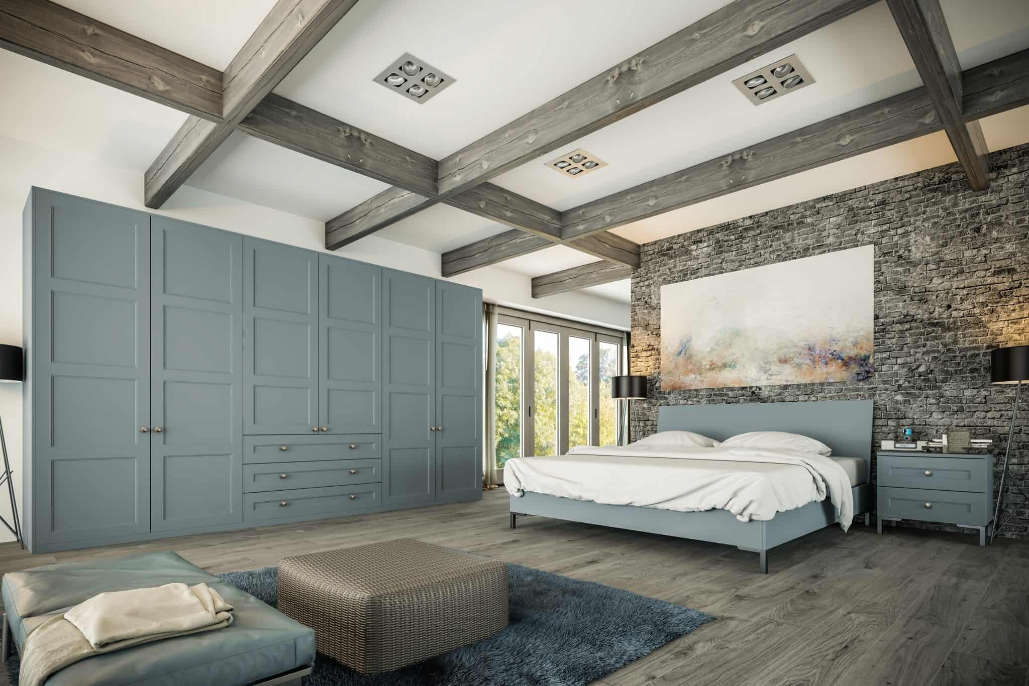 Aldridge Bedroom in Matt Denim