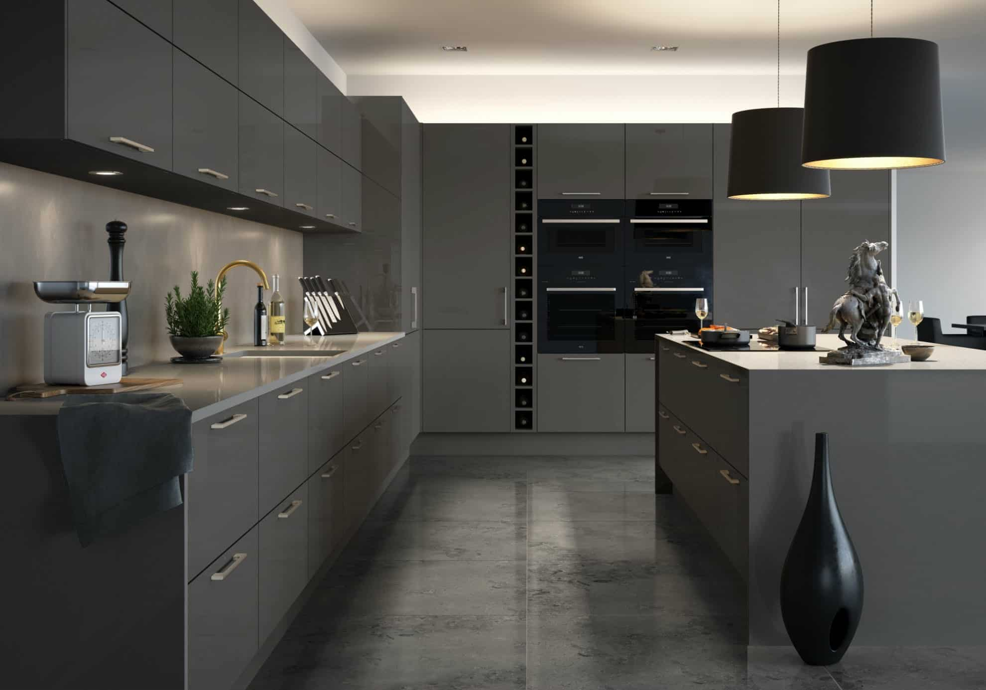 Napoli kitchen in medium grey