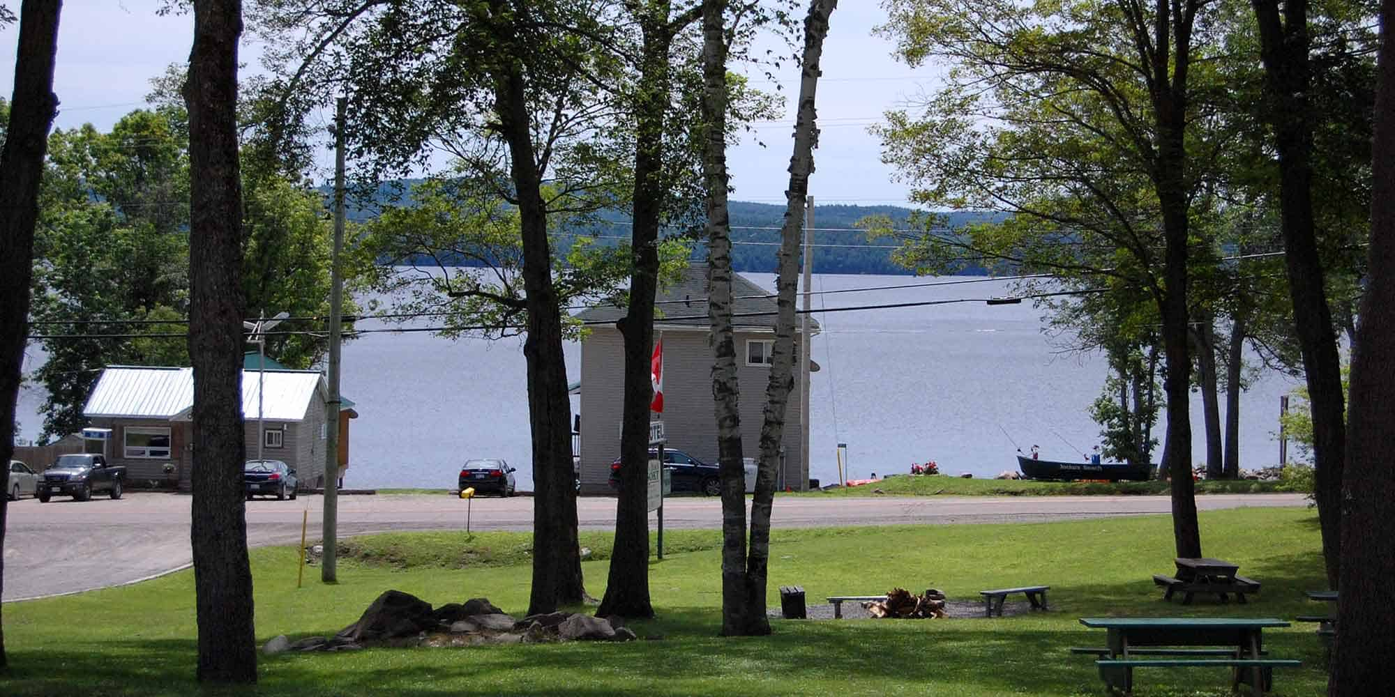 Back of Lakeside House as seen from the Motel with Calabogie Lake