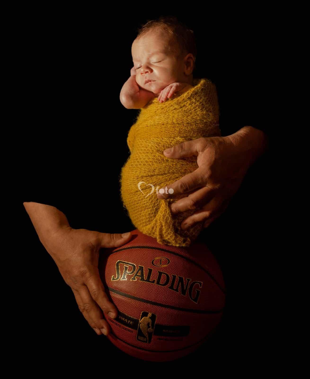 NHL Basketball Toronto and Mississauga Newborn Photography