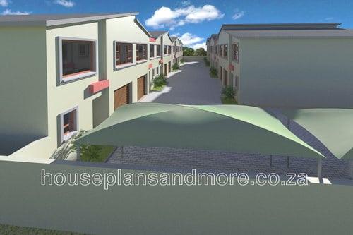 Townhouse complex for a developer client