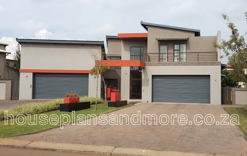 Double storey mod house plan design for client