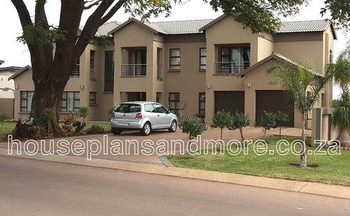 Double storey gable house plan design for client