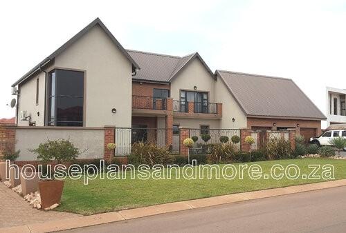 Double storey house plan design for clientmetal roof