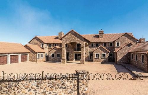 Double storey brick house plan design for client