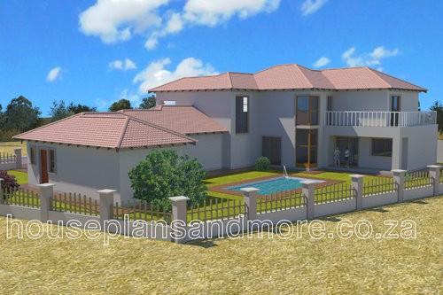 Double storey house plan design