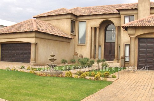 Double storey mediterrainian house plan