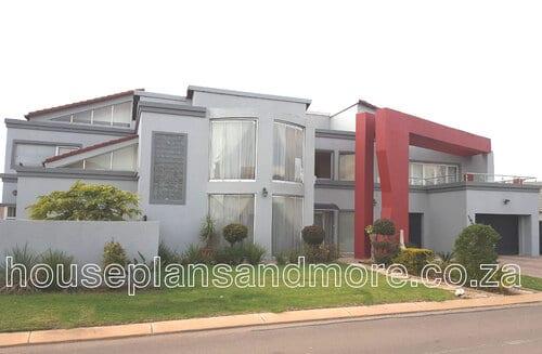 Double storey mod house house plan design