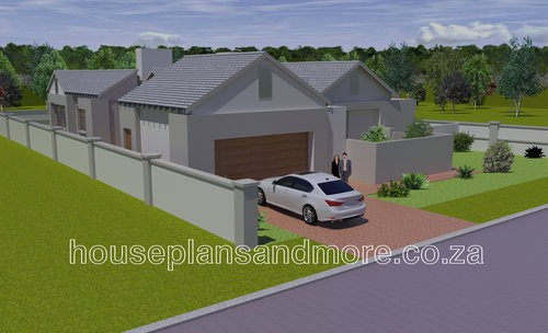 single storey gable house plan design for client
