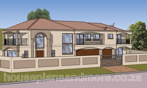 Double storey tuscan house plan design for client