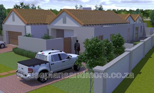 Single storey house plan design