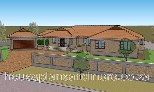 Single storey house plan design for client