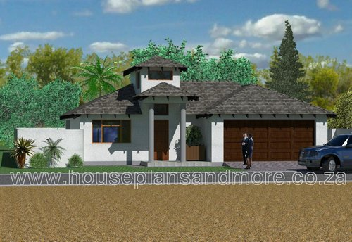 Single storey house plan design for client