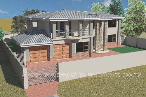 Double storey house plan design for client